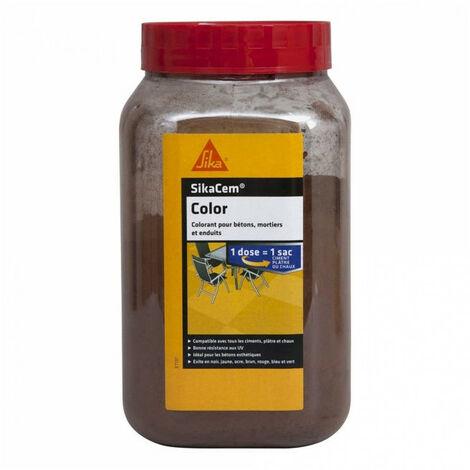 Colorant en poudre pour ciment, chaux et plâtre Sikacem Color 700g - Brun SIKA