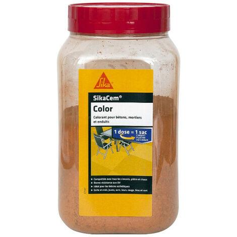 Colorant en poudre pour ciment, chaux et plâtre Sikacem Color 700g SIKA- plusieurs modèles disponibles