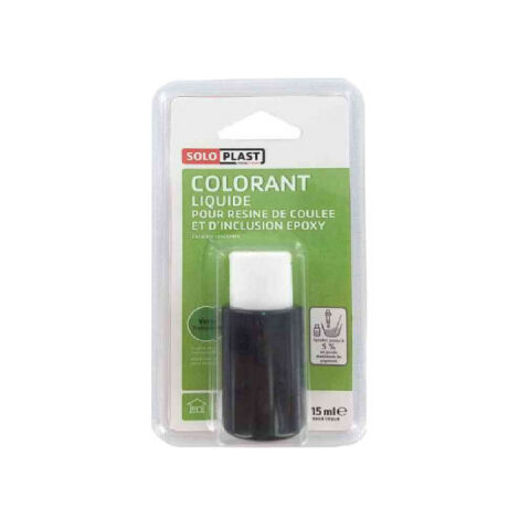 Colorante líquido para resina SOLOPLAST 15ml verde translúcido - Vert