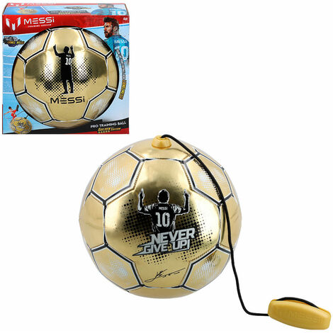 ColorBaby - Balón entrenamiento con cuerda Messi Training System Golden Edition (48070)