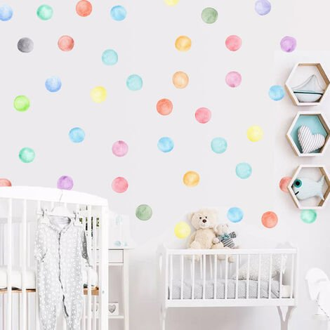 Colorful Dots Wall Stickers for Kids Bedroom Living Room Decor