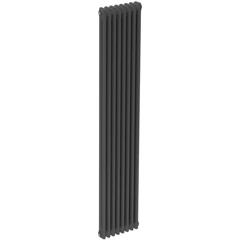 Colosseum Anthracite 1800mm x 372mm Vertical Double Panel Radiator