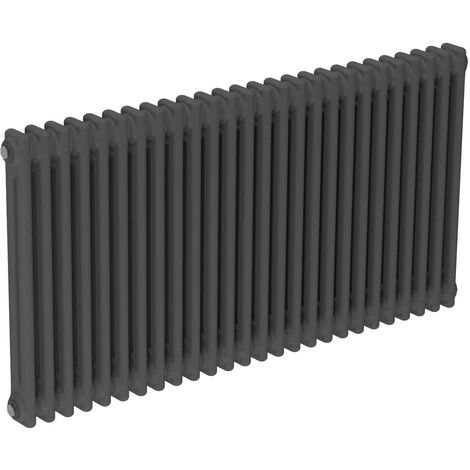 Colosseum Anthracite 600mm x 1164mm Horizontal Double Panel Radiator