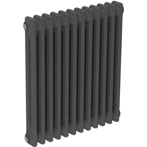 Colosseum Anthracite 600mm x 548mm Horizontal Double Panel Radiator