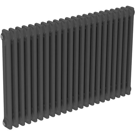 Colosseum Anthracite 600mm x 988mm Horizontal Double Panel Radiator