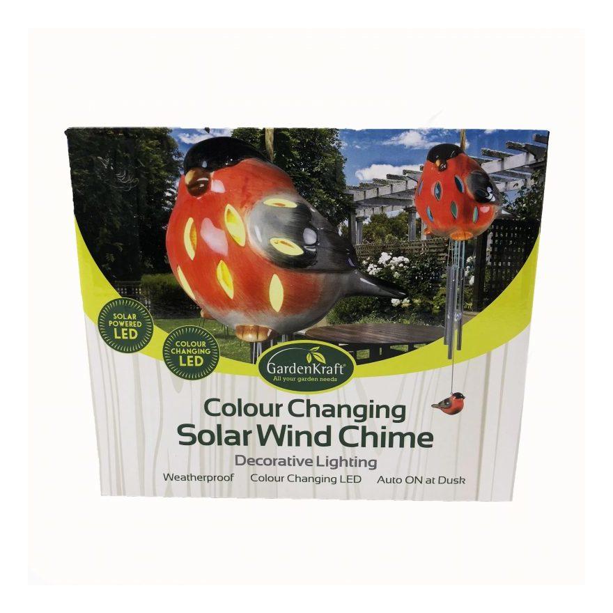 Image of Benross - Colour Changing Solar Bird Windchime Light