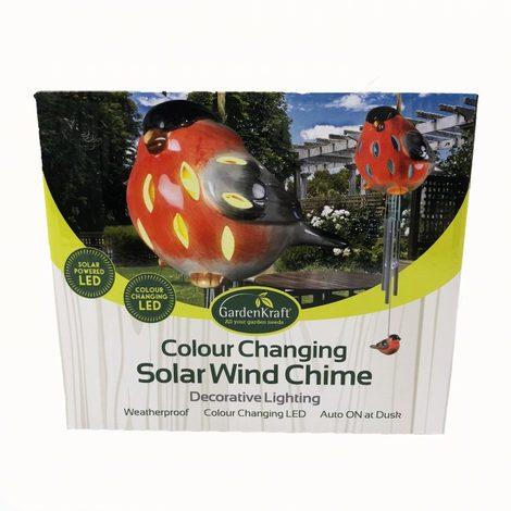 Colour Changing Solar Bird Windchime Light