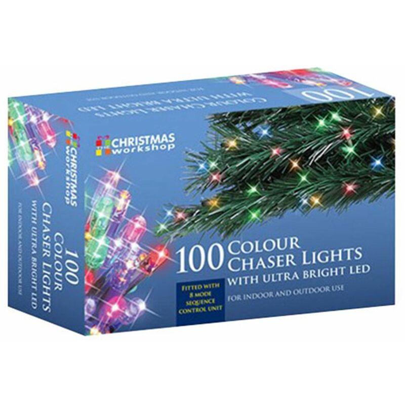 Image of Benross 100 Ultra Bright LED String Chaser Lights – Multi-Coloured
