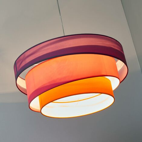 Colourful pendant light Melia, violet, pink