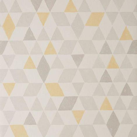 Scandi Triangle Geometric Wallpaper Yellow White Grey Paste Wall Colours