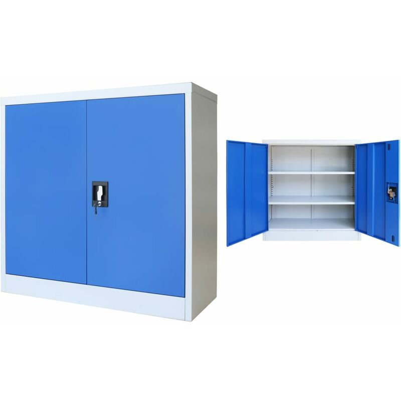Image of Colstrip 2 Door Storage Cabinet by Blue - Ebern Designs