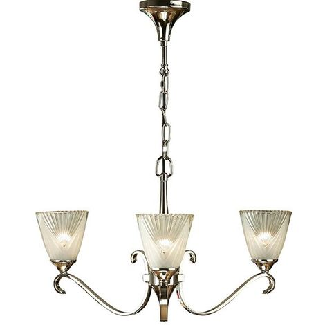 Columbia Nickel 3Lt Pendant Light And Decor Clear Glass 40W