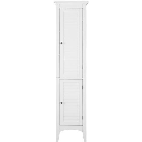 Columna Armario de Baño Mueble de Baño de la Pared Blanco Moderno Madera Teamson ELG-588