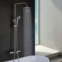 Columna bañera Gasol extralarga con termostática y con ducha y duchón redondos