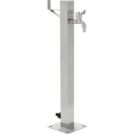 Columna de agua para jardín acero inoxidable cuadrada 65 cm