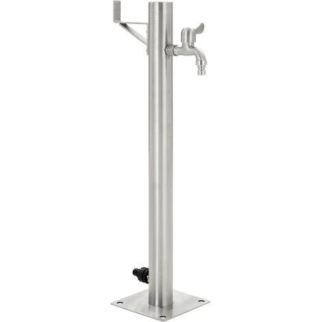 Columna de agua para jardín acero inoxidable redonda 65 cm