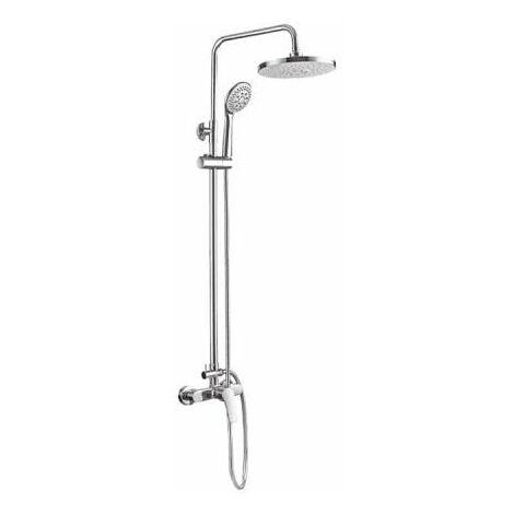 Columna de bañera EDM con mezclador - cascada de ducha, flexo y cabezal de ducha