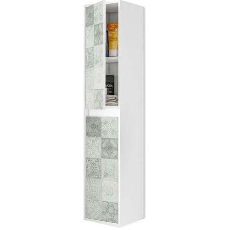 Columna de baño suspendida Due - Blanco Brillo – Baldosa Hidráulica