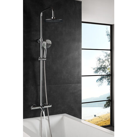 Columna de baño Wind Blu RD con termostática Olympic