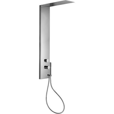 Columna de ducha completa de acero inoxidable Paffoni ZCOL673CR | Cromo