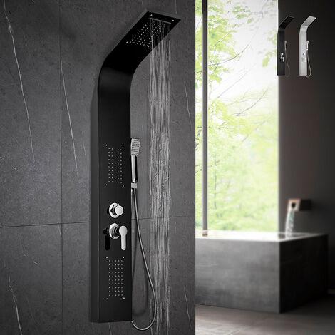 Columna de ducha de acero con mezclador de ducha en cascada de hidromasaje Monticelli