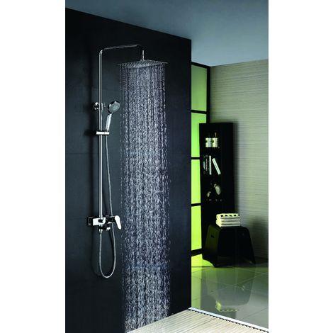 Columna de ducha de acero inoxidable monomando con grifo de bañera Serie Bristol - IMEX