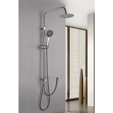 Columna de ducha de acero inoxidable monomando Serie Europa - IMEX