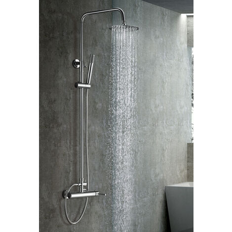 Columna de ducha de acero inoxidable monomando Serie Milan - IMEX