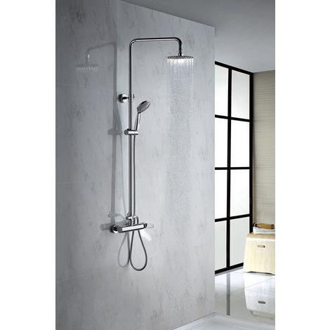 Columna de ducha de acero inoxidable monomando Serie Paris - IMEX