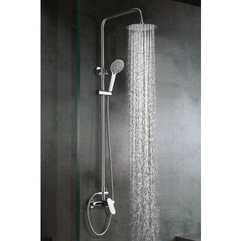 Columna de ducha de acero inoxidable monomando Serie Sintra - IMEX