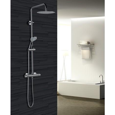 Columna de ducha de acero inoxidable termostatica Serie Bled - IMEX