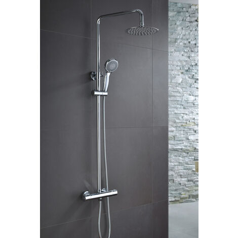 Columna de ducha de acero inoxidable termostatica Serie Londres - IMEX