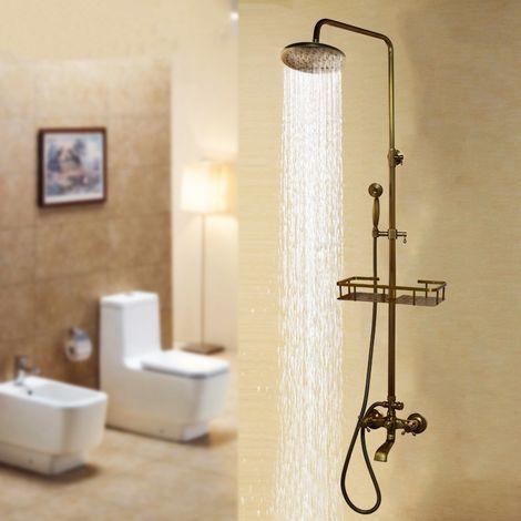 Columna de ducha de latón antiguo de 360 ??°
