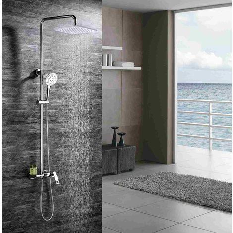 Columna de ducha Diseño cromado Línea fluida Caño corto con cascada