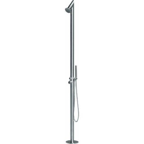 Columna de ducha para suelo para exteriores Damast LILTH 13062 | Acciaio Satinato