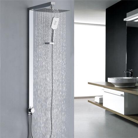Columna de ducha sin grifo Kit de ducha cromado Sistema de ducha 3 modos Alta calidad