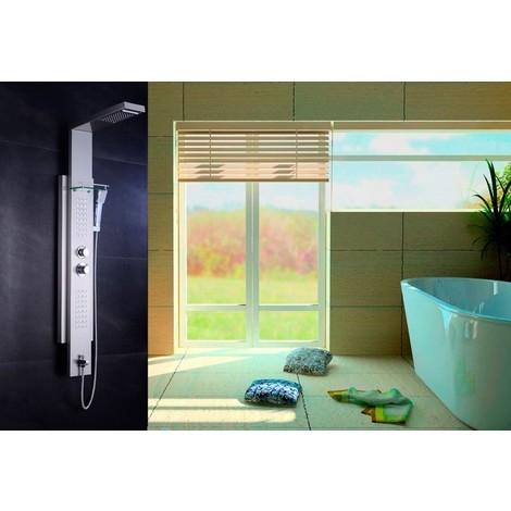 Columna de ducha termostática (5 funciones) modelo AT-001C / Torre - panel de baño para masaje