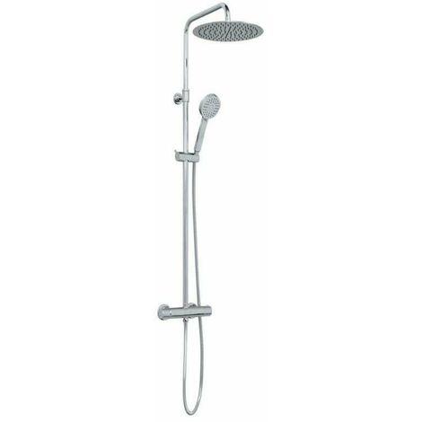 Columna de ducha termostática acero inoxidable cromado – Indo