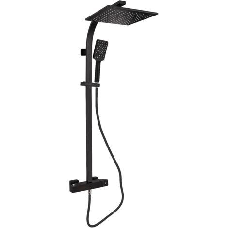 Columna de ducha termostática ACQUA negro mate, con tecnología Keepcool®