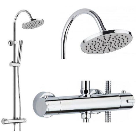Columna de ducha termostática Coribi modelo NIAGARA