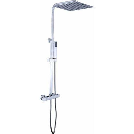 Columna de ducha termostatica de acero inoxidable 20cm