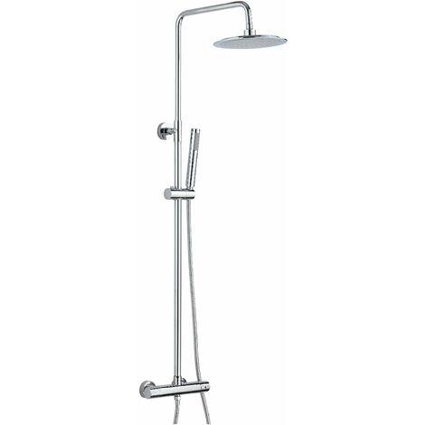 Columna de ducha termostática versión redonda Damast Sally 12448 | Cromo - termostático