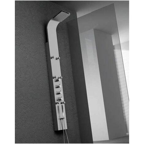 Columna de ducha Zeus termostática con hidromasaje de Acero Inoxidable