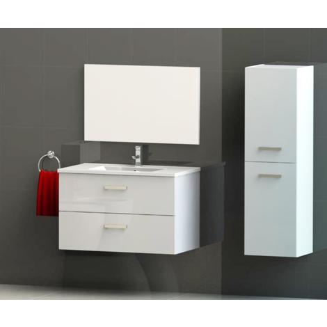 Columna de mueble Syva blanca Dimensiones : 35X31,5x120 cm- Aqua+
