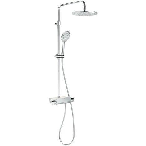 Conjunto de ducha termostático con repisa ROUND DECK - ROCA