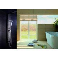 Columna para ducha - baño (5 funciones) / Torre - Panel de hidromasaje modelo AT-002B, color negro