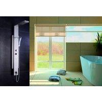 Columna termostática de ducha hidromasaje (5 funciones) - Cascada y grifería incluida - Panel / Torre