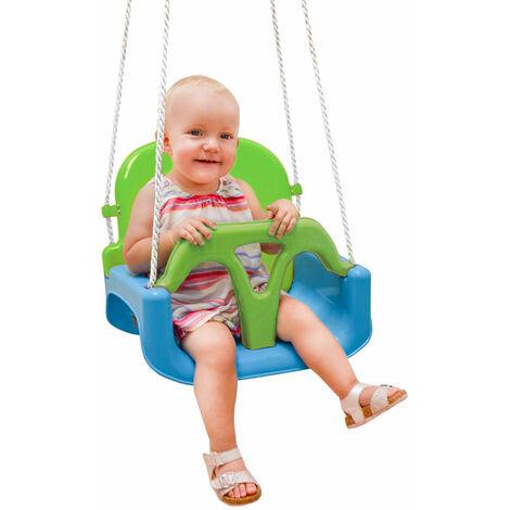 Columpio 3 en 1 para Bebés y Niños Pequeños Balancín de Jardín Juguete Exterior