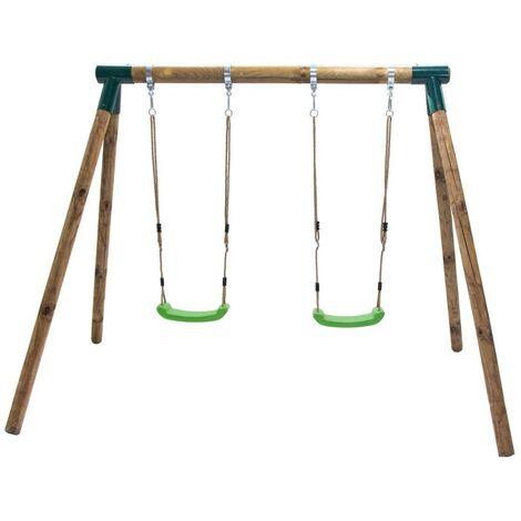 Columpio de madera doble Masgames KADI
