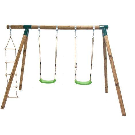Columpio de madera doble Masgames KADI DELUXE